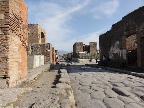 Shopping street in Pompeii