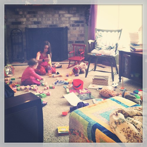 8:38 AM on a #snowday and the living room is already trashed. Is it spring yet?