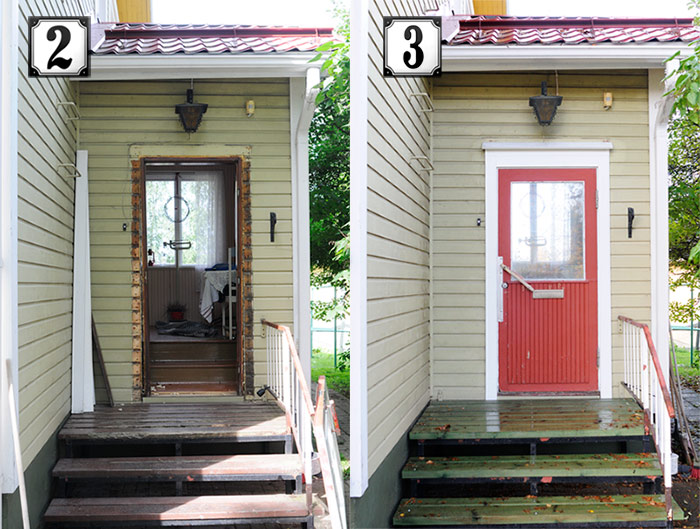 Front Door and Steps Transition