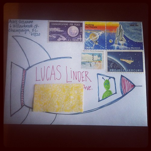 Ready for blast off. #lettermo #showandmail