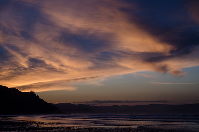 Sunset at Playa de Vega, Ribadesella, Asturias