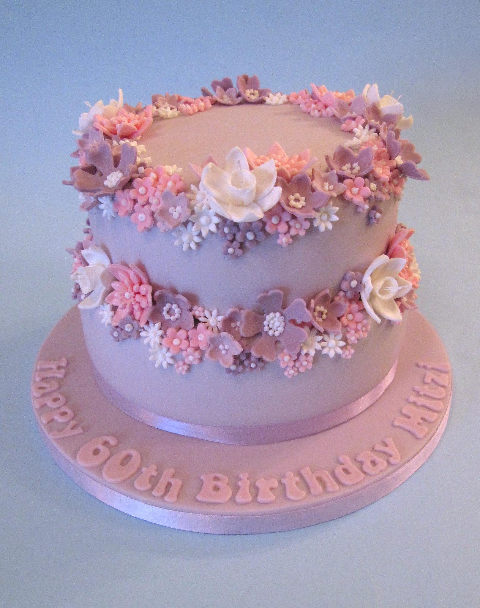 Pretty 60th Birthday Cake Flickr - Photo Sharing!