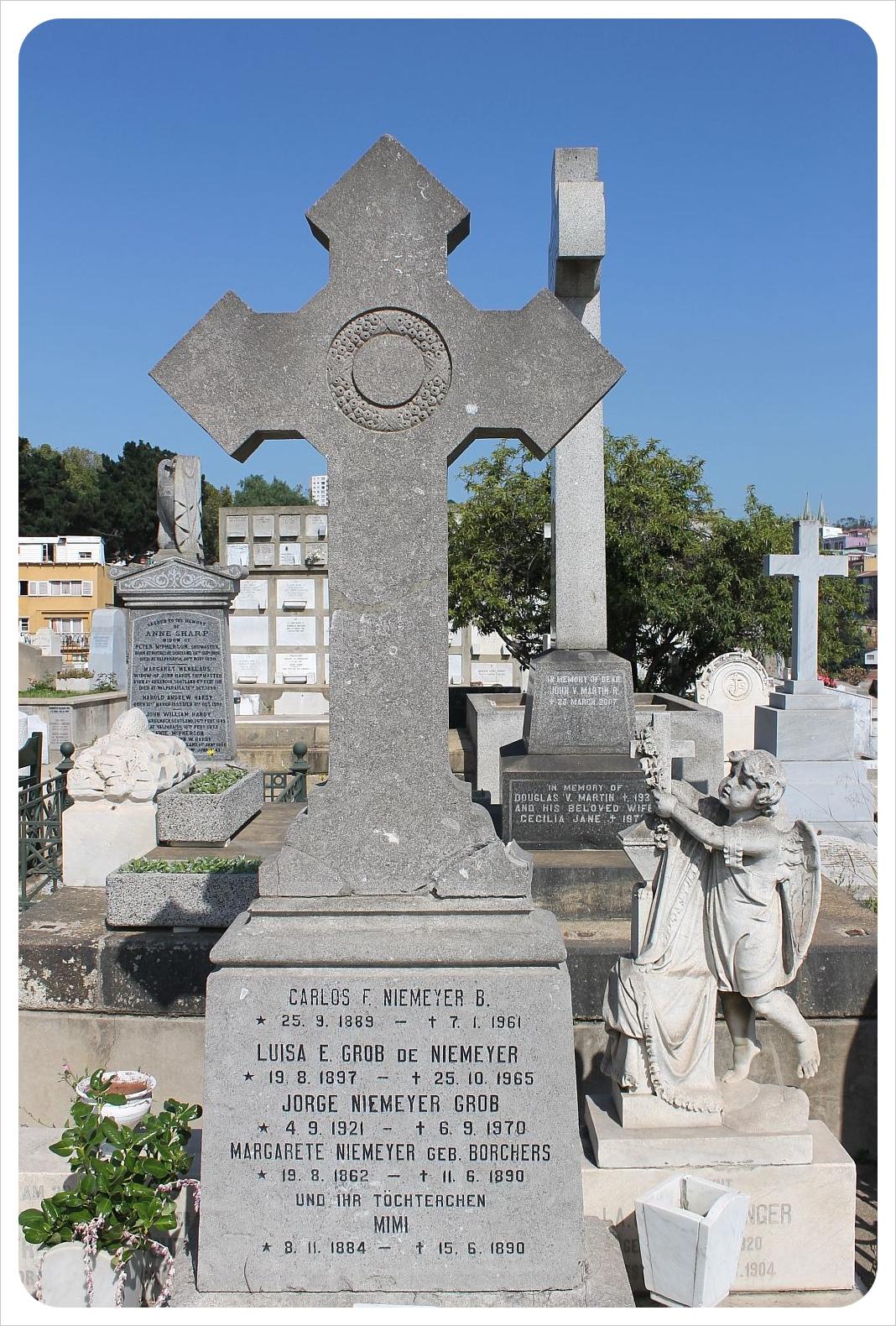 valparaiso cemetery german family grave