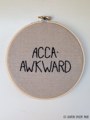 """Iron Craft '13 #1 - Pitch Perfect """"Acca-Awkard"""" 6"""" Hoop"""