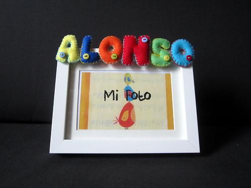 Marco de Fotos con nombre en Fieltro - Alonso - ChikiPol