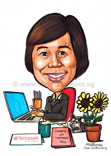 Caricature for Temasek Polytechnics