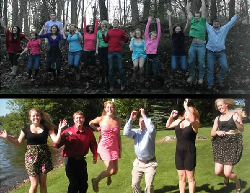 11 types of family photos: the Jump Shot