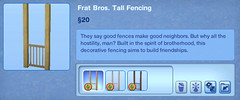 Frat Bros Tall Fencing