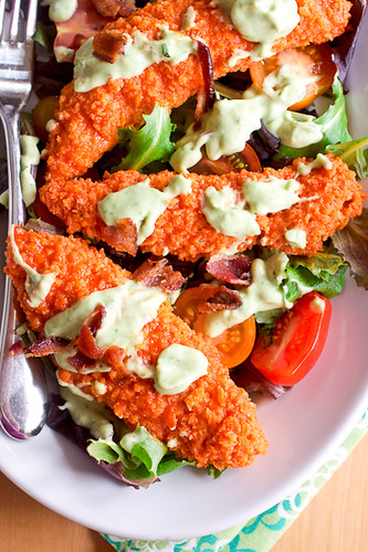 Buffalo Chicken Salad with Creamy Avocado Ranch Dressing - Smells Like ...