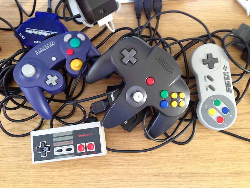 All Nintendo controllers connected simultaneously