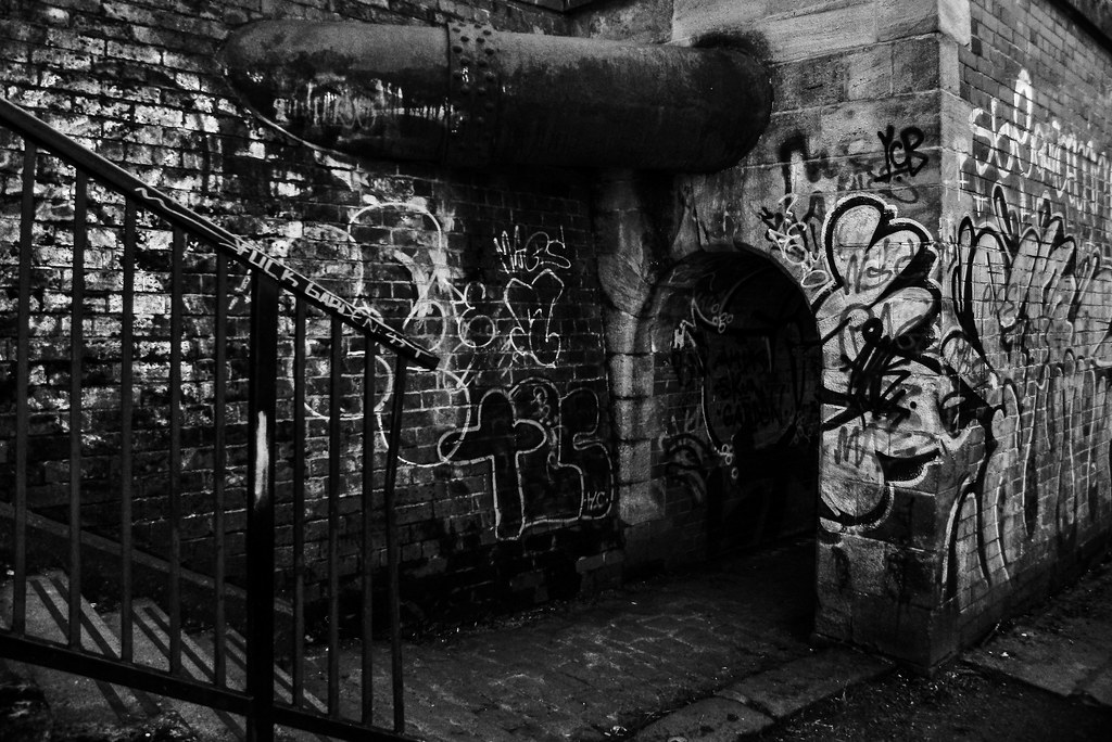 Graffiti, Arch, Pipe & Steps