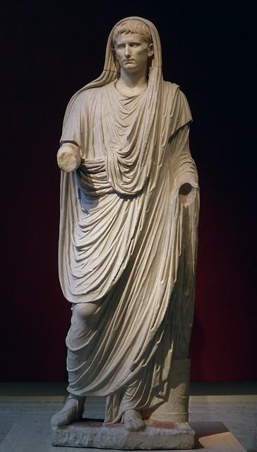 Augustus as Pontifex Maximus, late Augustan period, Palazzo Massimo alle Terme, Rome