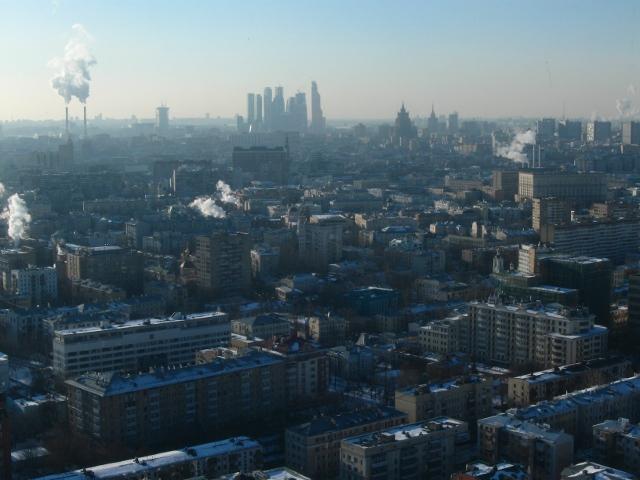 Москва-сити вдалеке
