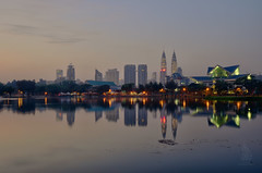 'Sunrise at Titiwangsa Lake Garden'