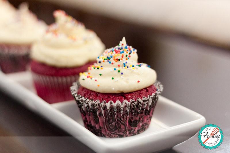 Fuchsia Velvet Cupcakes