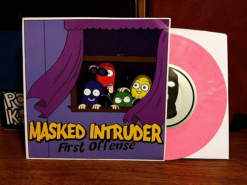 "Masked Intruder - First Offense 7"" - Pink Vinyl (/250) by Tim PopKid"