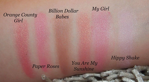 dainty doll swatches