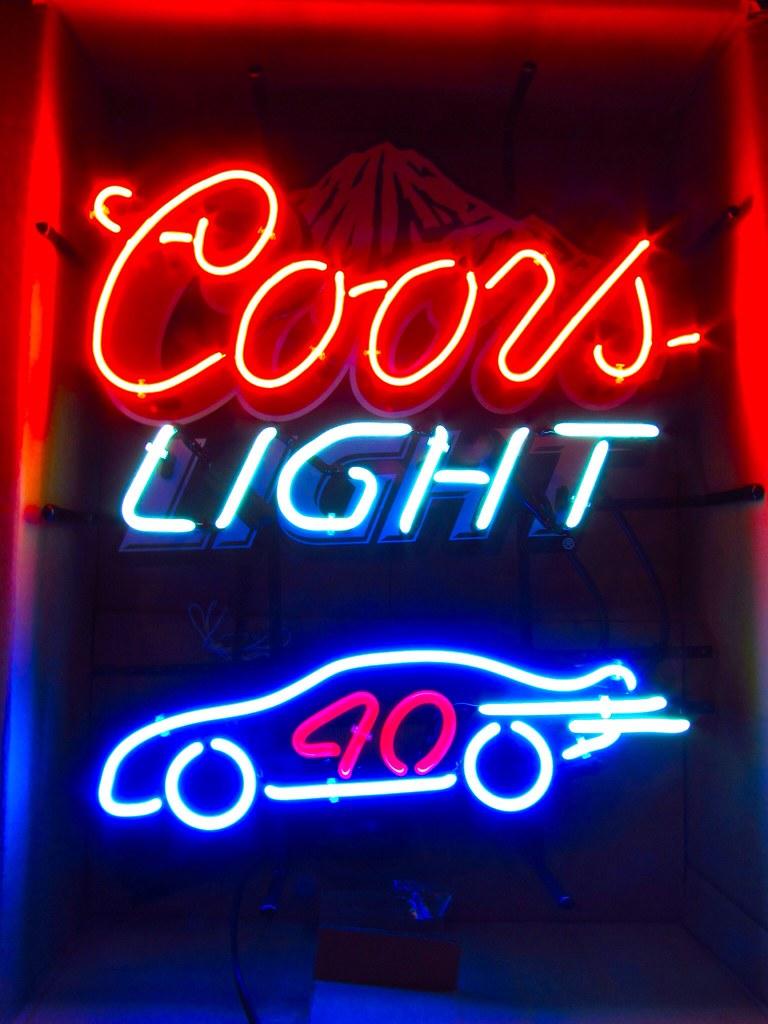 Coors Light Nascar Neon Bar Sign Beer Light | Coors Light