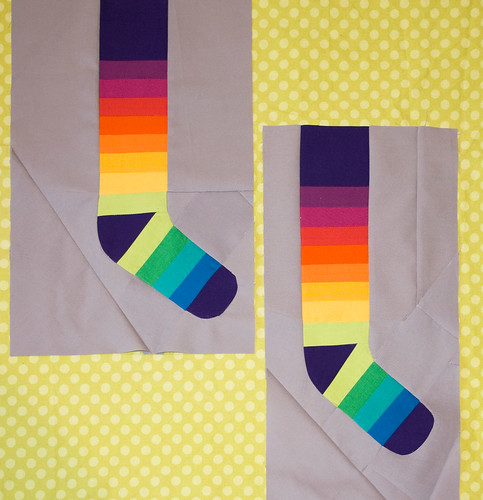 Rainbow socks for Sherri