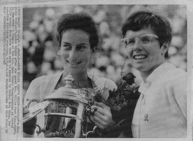 1968 Virginia Wade at Tennis Championships at Forest Hills Tennis Stadium, News photo