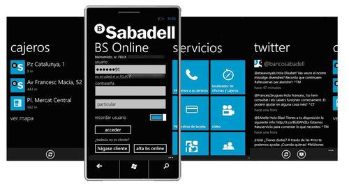 Aplicación nativa de BS Móvil para Windows Phone