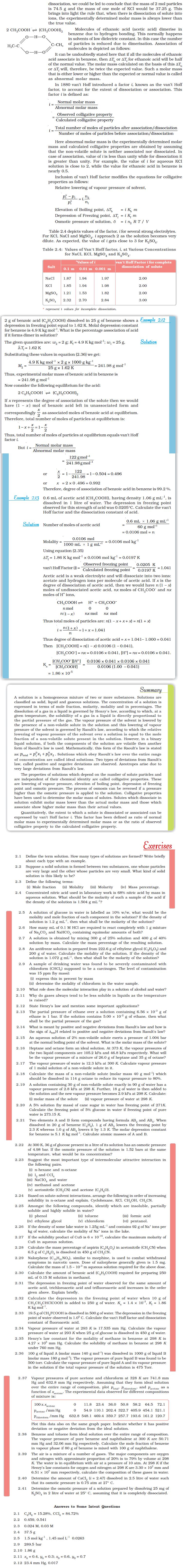 NCERT Class XII Chemistry Chapter 2 - Solutions