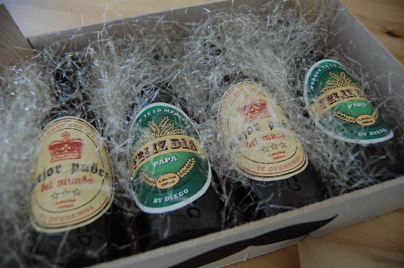caja de cervezas día del padre