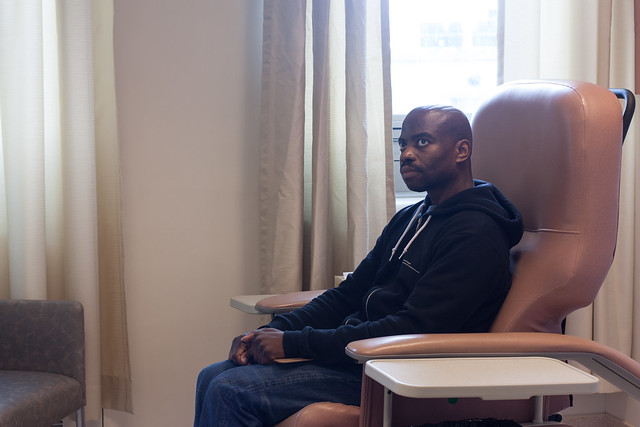 Waiting for my chemo treatment