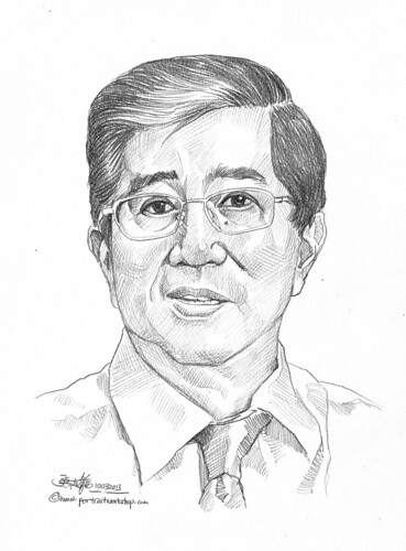 Pencil portrait for Chinese Swimming Club Joseph Low - 20