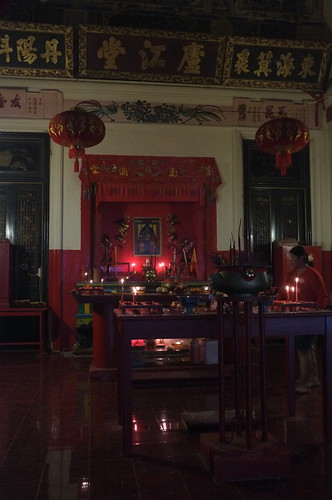 chinese shrine within the hotel
