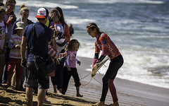 Sally Fitzgibbons and her fan club.