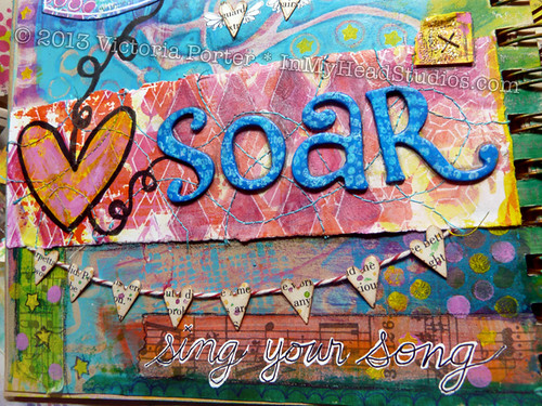 """Soar & Fly"" Art Journal Page : Soar"