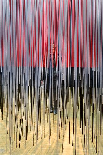 Visiteur en mouvement (Centre Georges Pompidou)