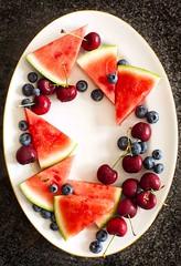 Fresh summer berries on plate