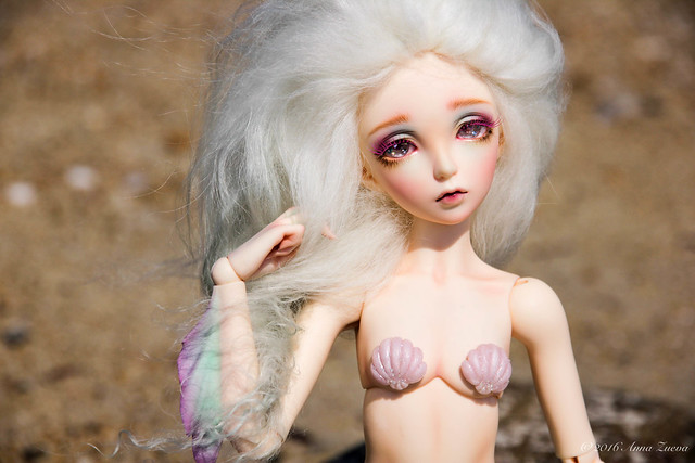 Mermaid tail and seashell bra for minifee/fairyline (MSD)