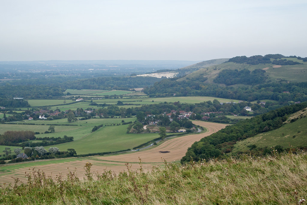 South Downs Escarpment Hassocks to Upper Beeding