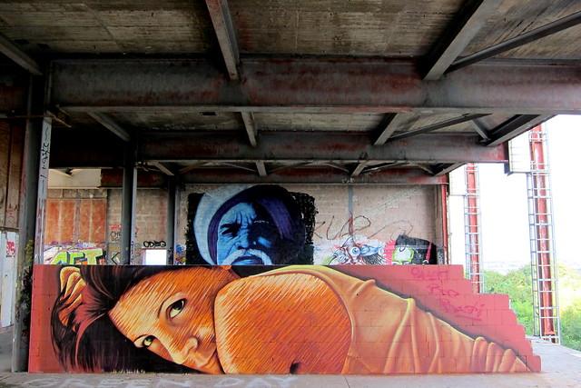 graffiti   jbak   teufelsberg . berlin