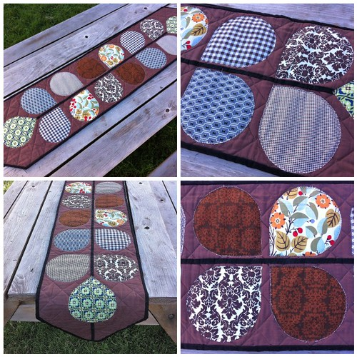 Retro Petal Table Runner Quilt