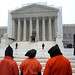 Close Guantánamo: Protestors outside the US Supreme Court