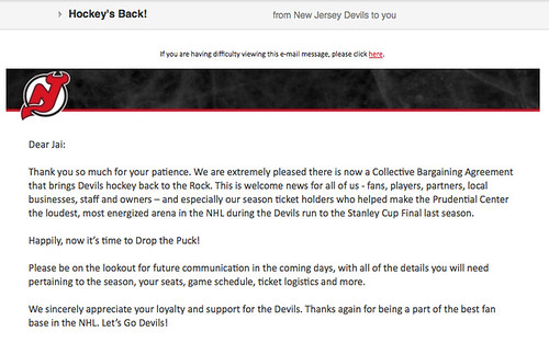 NJ Devils NHL Letter by Jai Agnish