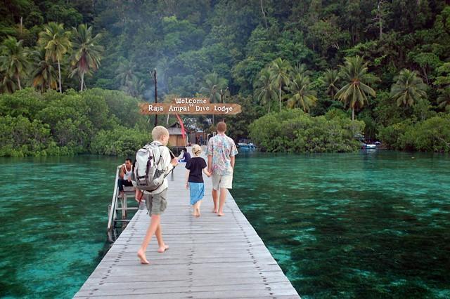 lovely resort jetty