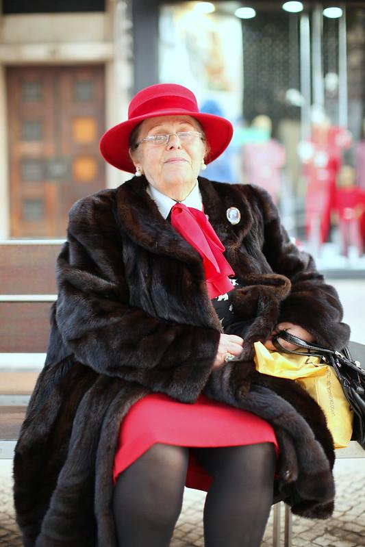 Uma senhora ali no Rossio