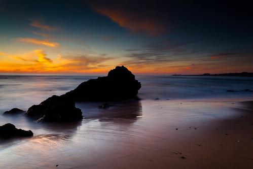 [フリー画像素材] 自然風景, 朝焼け・夕焼け, ビーチ・海岸 ID:201301261800
