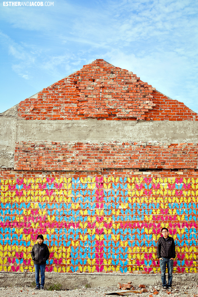 Colorful wall in Christchurch | 48 hours in Christchurch | What to do in 2 days in Christchurch | Christchurch New Zealand Travel Photography