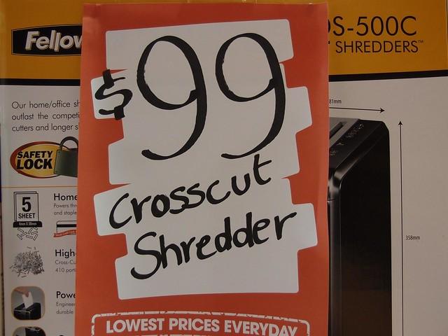 crosscut shredder for sale