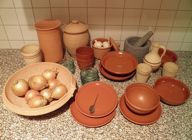 Collection of Roman pottery/tableware replica