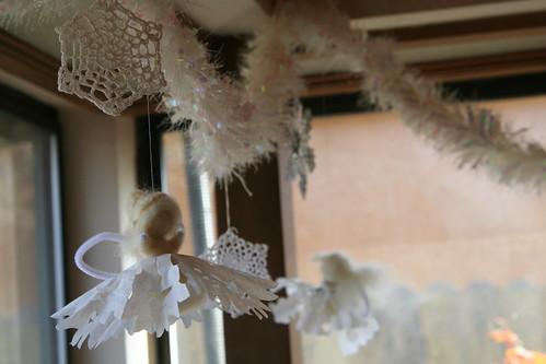 Snowy Garland wih Snowflake Fairies