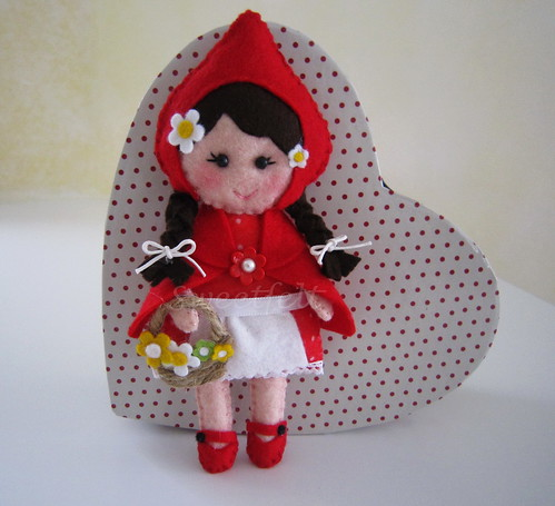 ♥♥♥ Capuchinho Vermelho ... by sweetfelt \ ideias em feltro