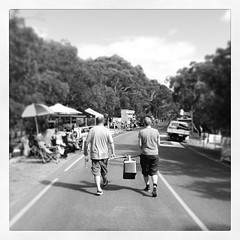 On our way to watch the #TDU at Willunga Hill