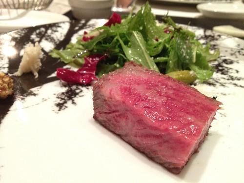 メインの北海道和牛のタリアータ@ラ・ブリアンツァ